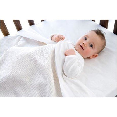 Little Bamboo - Fitted Cot Sheet White - Bedding - Little Bamboo - Afterpay - Zippay Carry Them Close