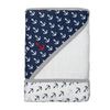 Little Turtle Baby - Hooded Towel - Anchors (Navy)