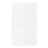 Little Turtle Baby - Changing Pad Cover - White with & Grey Stars
