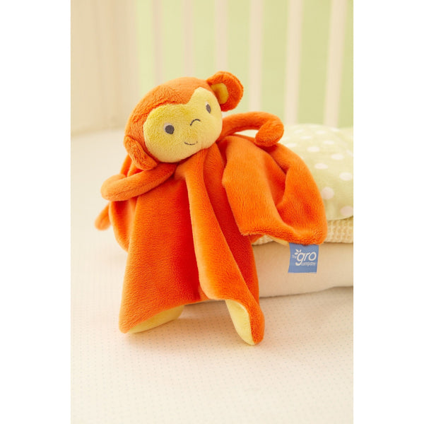 Gro Comforter - Mikey Monkey, , Security Blanket, The Gro Company, Carry Them Close  - 1