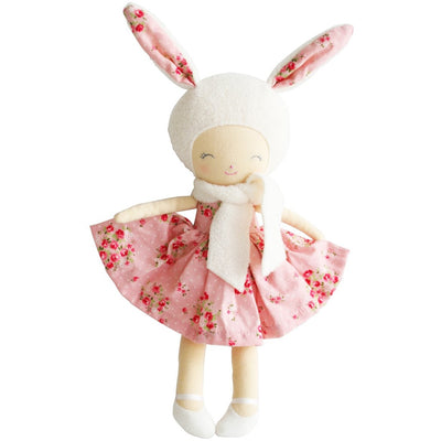 Alimrose - Belle Bunny Girl Pink Floral - Toys - Alimrose - Afterpay - Zippay Carry Them Close