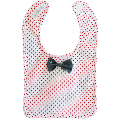 Alimrose - Bow Tie Bib Grey Red - Clothing - Alimrose - Afterpay - Zippay Carry Them Close