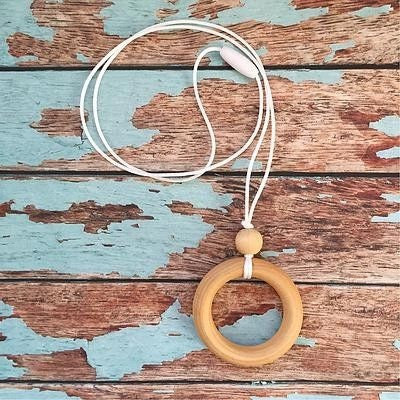 Maple Ring Pendant Necklace - Teething Necklace - Nature Bubz - Afterpay - Zippay Carry Them Close