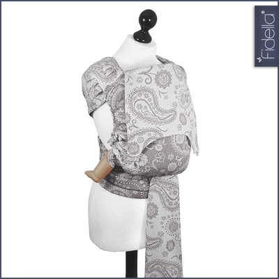 Fidella Fly Tai - MeiTai babycarrier Persian Paisley smoke (New Size 3 months +) ***Pre-Order*** - Meh Dai - Fidella - Afterpay - Zippay Carry Them Close
