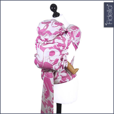 Fidella Fly Tai - MeiTai babycarrier Sirens raspberry (New Size - 3 months +) - Mei Tai - Fidella - Afterpay - Zippay Carry Them Close