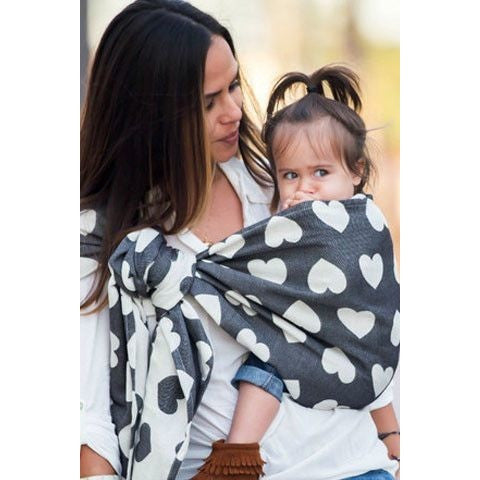 Tula Ring Sling - Love Noir - Wrap Conversion - Ring Sling - Tula - Carry Them Close