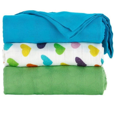 Tula Blanket - Rainbow Hearts Oliver (Set), , Baby Blankets, Tula, Carry Them Close  - 1