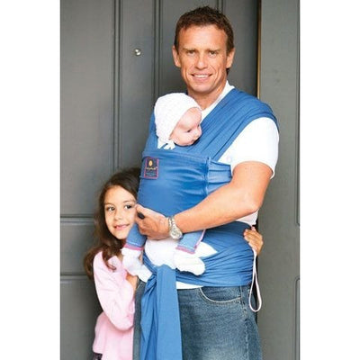 Hug a Bub Organic Pocket Stretchy Wrap Carrier - Byron Blue, , Stretchy Wrap, hug.a.bub, Carry Them Close  - 1