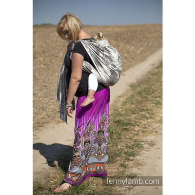 Lenny Lamb Wrap - Poseidon Black and Cream - Woven Wrap - Lenny Lamb - Afterpay - Zippay Carry Them Close