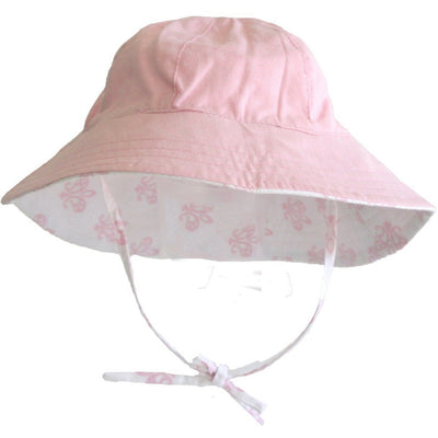 Alimrose Sun Hat - Reversible Pink Blossom - Clothing - Alimrose - Afterpay - Zippay Carry Them Close