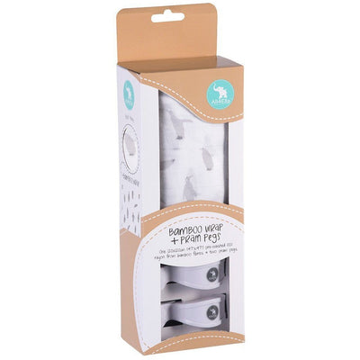 All4Ella Bamboo Baby Swaddle Wrap & Pram Peg Set - Penguin - Swaddle - All4Ella - Afterpay - Zippay Carry Them Close