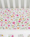Little Unicorn - Cotton Muslin Cot Sheet - Berry & Bloom