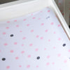 Little Turtle Baby - Changing Pad Cover - Pale Pink & Grey Spots