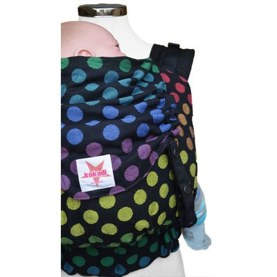 Kokadi Baby Size Flip- Black Rainbow Dots (Limited Edition) - Baby Carrier - Kokadi - Afterpay - Zippay Carry Them Close