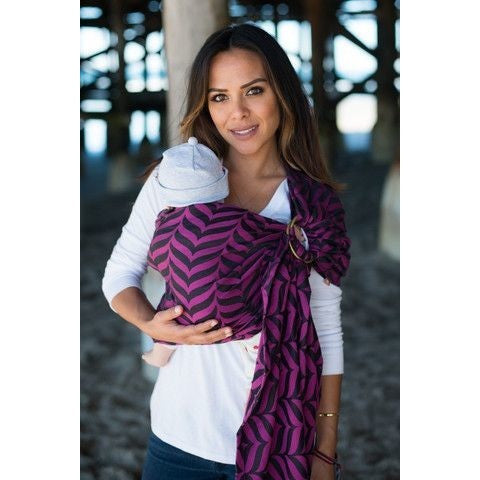 Tula Ring Sling - Migaloo Raspberry - Wrap Conversion, , Ring Sling, Tula, Carry Them Close