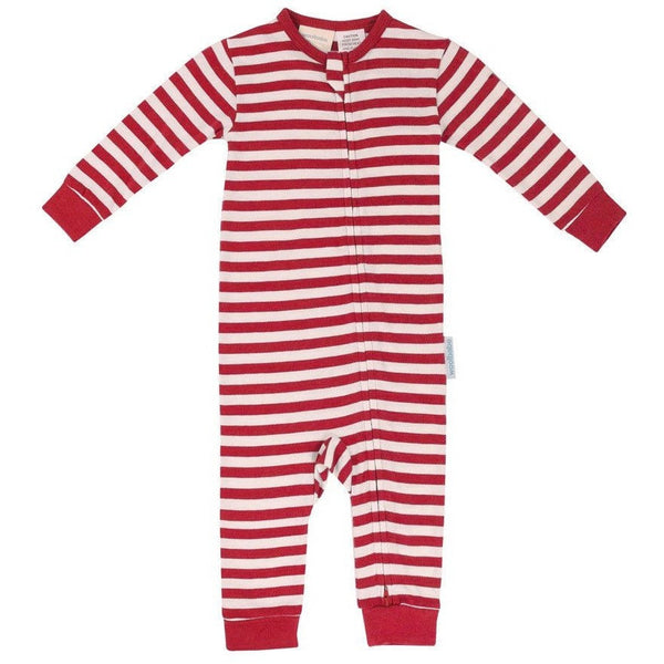 Woolbabe Sleep Suit Merino Wool/Cotton - Rata - Clothing - Woolbabe - Carry Them Close