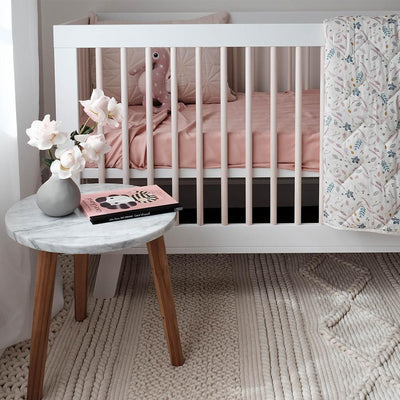 Mulberry Threads - Organic Bamboo Cot Sheets - Rose