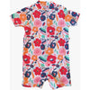 Plum - Swimmers Abstract Floral Zip 1 piece suit - Clothing - Plum - Afterpay - Zippay Carry Them Close