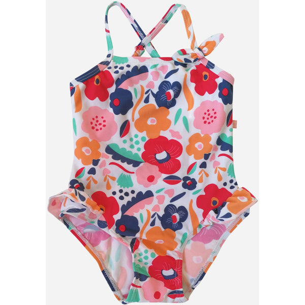 Plum - Swimmers Abstract Floral Swim Suit