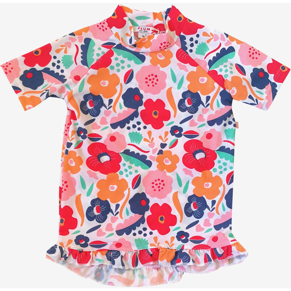 Plum - Abstract Floral Short Sleeve Rashie