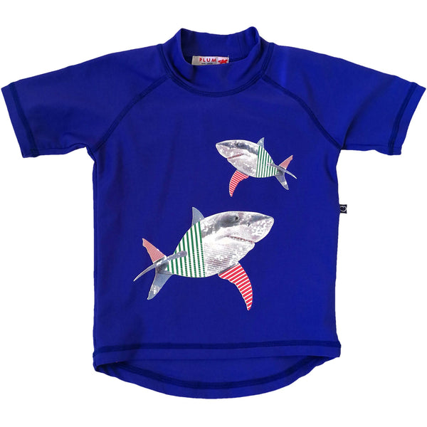 Plum - Swim Shark Short Sleeve Rashie