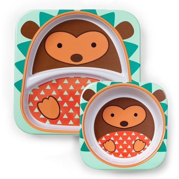 Skip Hop Melamine Set (Plate & Bowl) - Hedgehog
