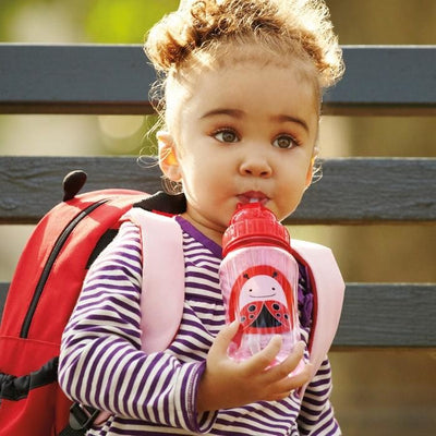 Skip Hop Straw Drink Bottle - Ladybug - Feeding - Skip Hop - Afterpay - Zippay Carry Them Close