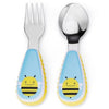 Skip Hop Zootensils (Spoon + Folk) - Bee - Feeding - Skip Hop - Afterpay - Zippay Carry Them Close