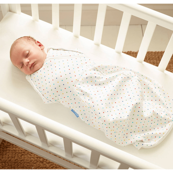 Grobag Newborn Swaddle (Light Weight) - Rainbow Spot - swaddle - The Gro Company - Carry Them Close