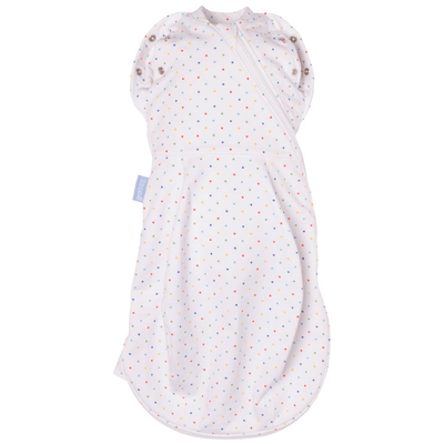 Grobag Newborn Swaddle (Light Weight) - Rainbow Spot - swaddle - The Gro Company - Afterpay - Zippay Carry Them Close