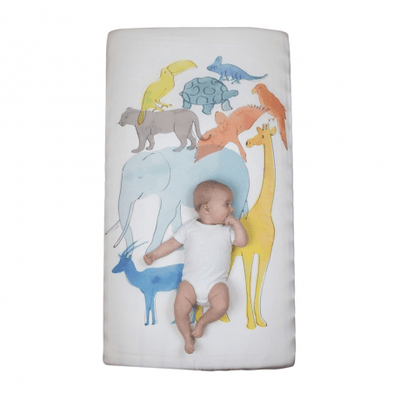 Weegoamigo Fitted Cot Sheet - Animal Stack - Bedding - Weegoamigo - Afterpay - Zippay Carry Them Close