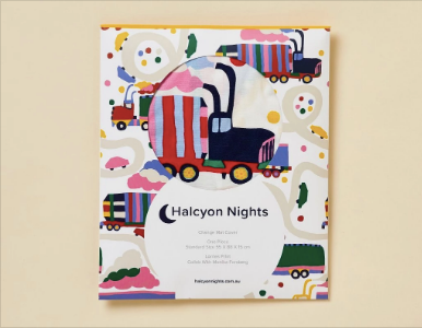 Halcyon Nights - Change Mat Cover or Bassinet Sheet - Lorries