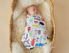 Halcyon Nights - Baby Swaddle Wrap - Big Band Party