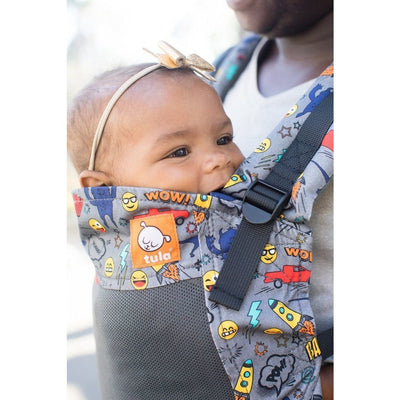 Tula Free-To-Grow Carrier - Coast (Mesh) Stamps - Baby Carrier - Tula - Afterpay - Zippay Carry Them Close