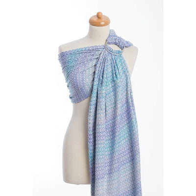 Lenny Lamb Ring Sling - Little Love Summer Sky (Merino, Silk, Wool, Cashmere, Cotton), , Ring Sling, Lenny Lamb, Carry Them Close  - 3