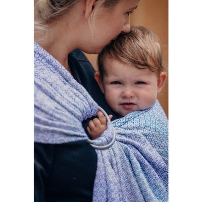 Lenny Lamb Ring Sling - Little Love Summer Sky (Merino, Silk, Wool, Cashmere, Cotton), , Ring Sling, Lenny Lamb, Carry Them Close  - 9