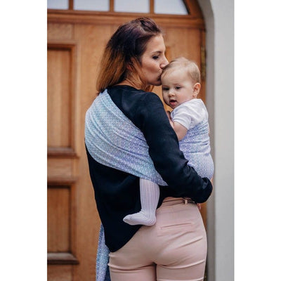 Lenny Lamb Ring Sling - Little Love Summer Sky (Merino, Silk, Wool, Cashmere, Cotton), , Ring Sling, Lenny Lamb, Carry Them Close  - 6