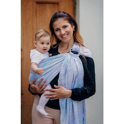 Lenny Lamb Ring Sling - Little Love Summer Sky (Merino, Silk, Wool, Cashmere, Cotton), , Ring Sling, Lenny Lamb, Carry Them Close  - 1