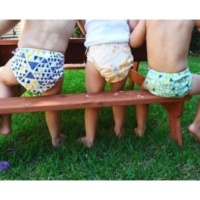 Designer Bums - Tribal Triangles - Cloth Nappies - Designer Bums - Afterpay - Zippay Carry Them Close