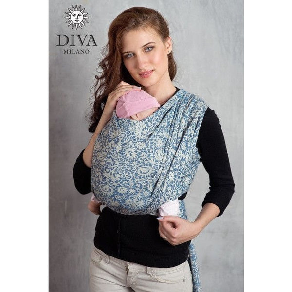 Diva Milano Woven Wrap - Veneziano (with Linen) - Como, , Woven Wrap, Diva Milano, Carry Them Close  - 1