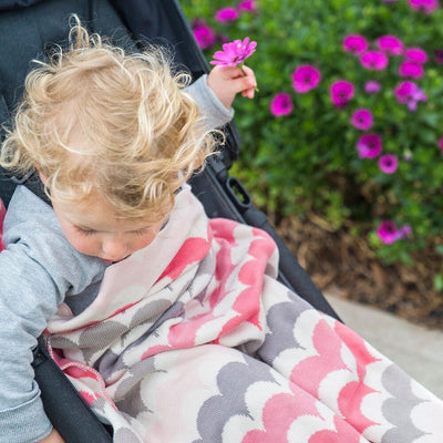 Weegoamigo Bamboo Knitted Baby Blanket - RicRac Alice - Baby Blankets - Weegoamigo - Afterpay - Zippay Carry Them Close