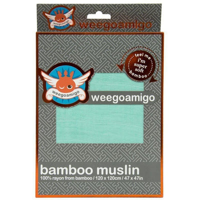 Weegoamigo Bamboo Swaddle Wraps - Bright Mint - Swaddle - Weegoamigo - Afterpay - Zippay Carry Them Close