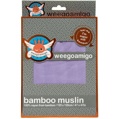 Weegoamigo Bamboo Swaddle Wraps - Plum - Swaddle - Weegoamigo - Afterpay - Zippay Carry Them Close