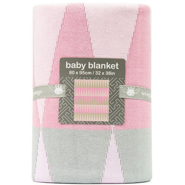 Weegoamigo - Cotton Knitted Blanket - Carousel Pink - Baby Blankets - Weegoamigo - Carry Them Close