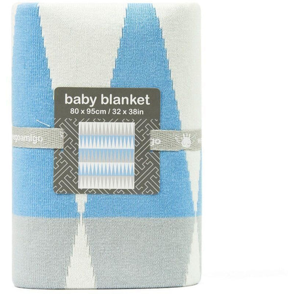 Weegoamigo Cotton Knitted Blanket - Carousel Blue - Baby Blankets - Weegoamigo - Carry Them Close
