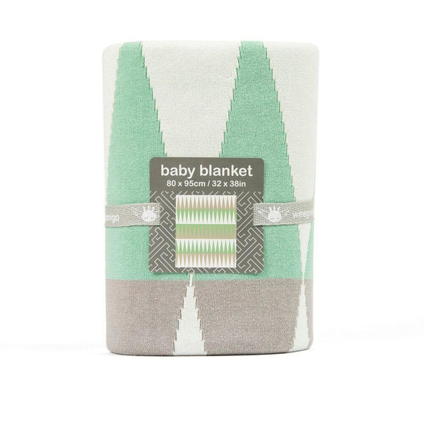 Weegoamigo Cotton Knitted Blanket - Ziggy Green - Baby Blankets - Weegoamigo - Carry Them Close