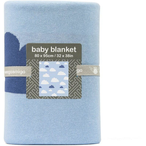 Weegoamigo - Cotton Knitted Blanket - Sky High Summer Blue - Baby Blankets - Weegoamigo - Carry Them Close