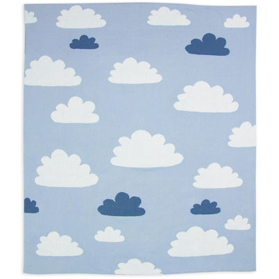 Weegoamigo - Cotton Knitted Blanket - Sky High Summer Blue - Baby Blankets - Weegoamigo - Afterpay - Zippay Carry Them Close
