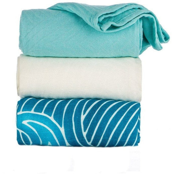 Tula Blanket - Waves (set of 3), , Baby Blankets, Tula, Carry Them Close