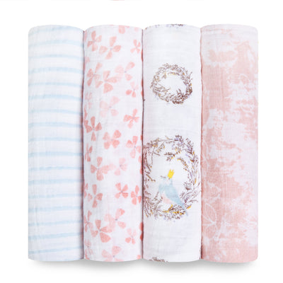 Aden and Anais - Classic Swaddles - Birdsong (4 Pack)